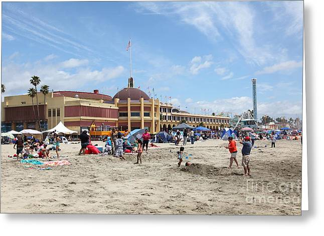 Santa Cruz Beach Boardwalk California 5d23755 Greeting Card by Wingsdomain Art and Photography