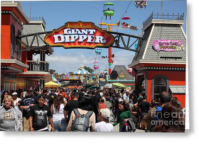 Santa Cruz Beach Boardwalk California 5d23867 Greeting Card by Wingsdomain Art and Photography