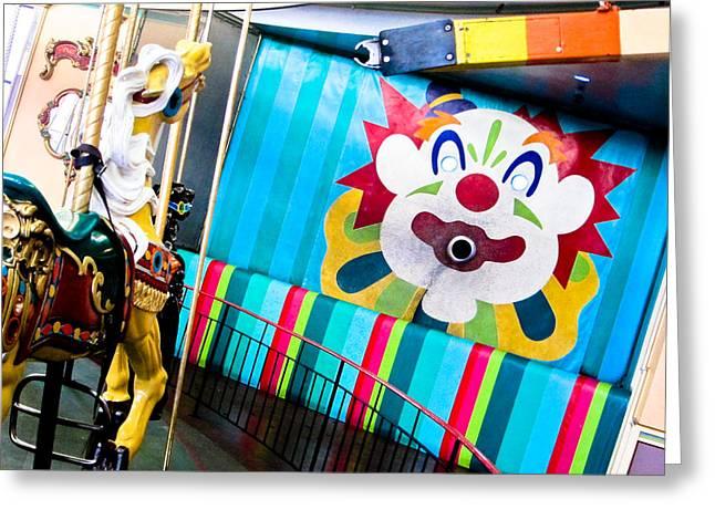 Santa Cruz Boardwalk Carousel Greeting Card