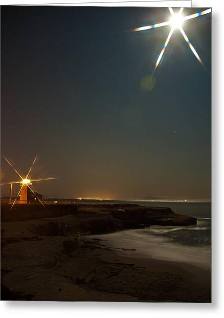 Santa Cruz Light Greeting Card by Frank Tozier