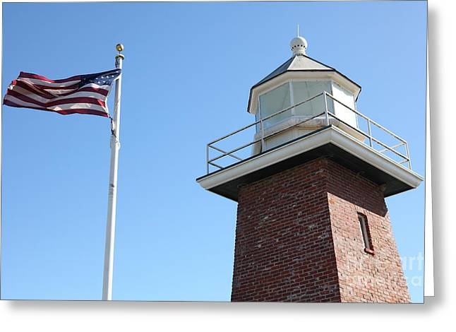 Santa Cruz Lighthouse Surfing Museum California 5d23951 Greeting Card