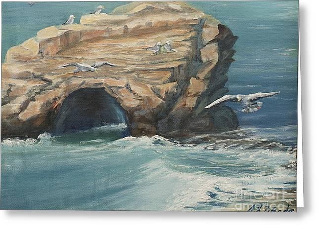 Santa Cruz Natural Bridges Greeting Card by Jeanne Wrede