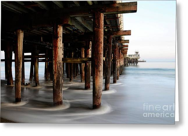 Santa Cruz Pier California Greeting Card by Bob Christopher