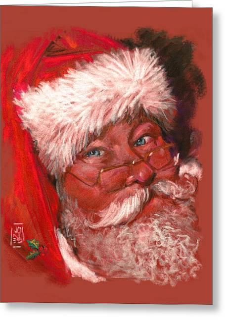 Santa  Greeting Card by Debra Jones