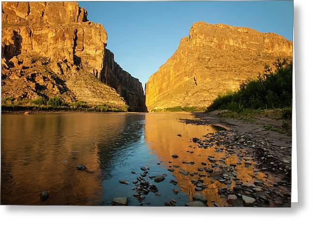 Santa Elena Canyon And Rio Grande Greeting Card