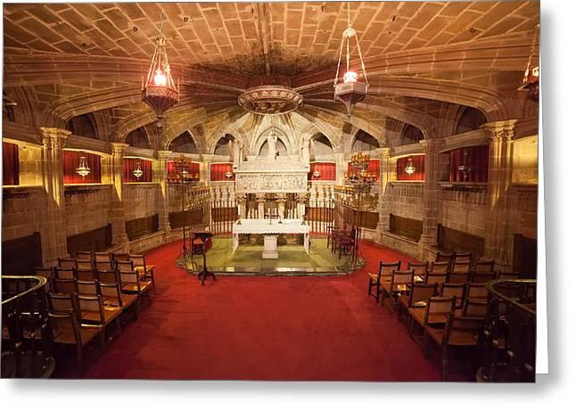 Santa Eulalia Crypt In Barcelona Cathedral Greeting Card