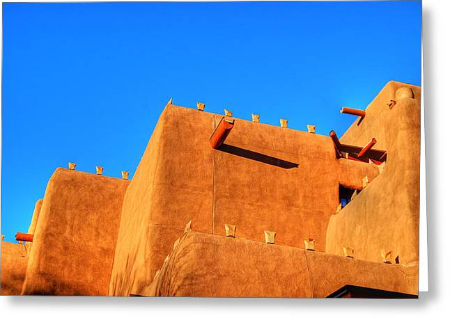 Santa Fe Adobe Greeting Card