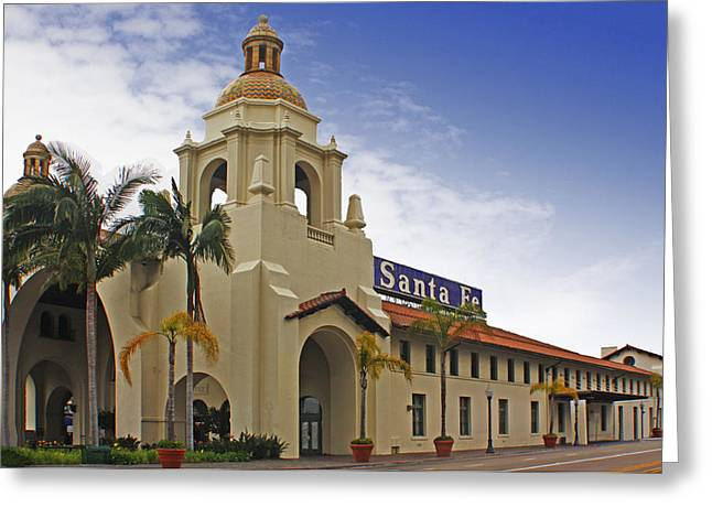 Santa Fe Depot Greeting Card by Photographic Art by Russel Ray Photos