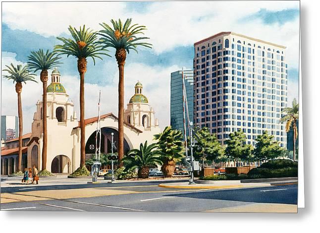 Santa Fe Depot San Diego Greeting Card