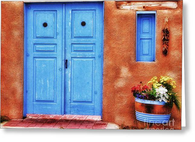 Santa Fe Doorway Greeting Card