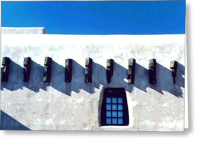 Greeting Card featuring the photograph Santa Fe by Mary Bedy