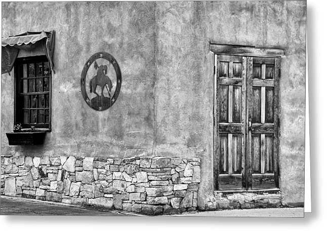 Greeting Card featuring the photograph Santa Fe New Mexico Street Corner by Ron White