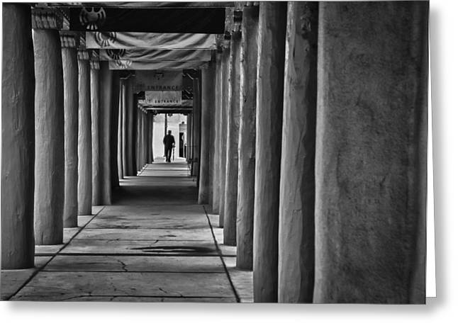 Greeting Card featuring the photograph Santa Fe New Mexico Walkway by Ron White