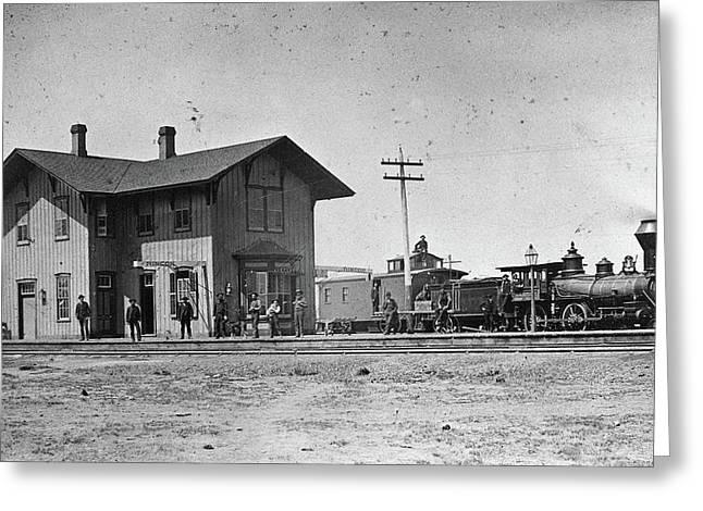 Santa Fe Railway, 1883 Greeting Card