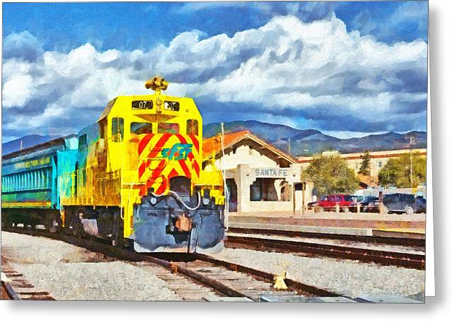 Santa Fe Southern Railway Train Greeting Card