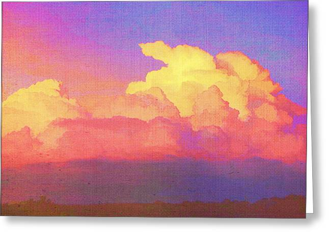 Santa Fe Sunset Greeting Card