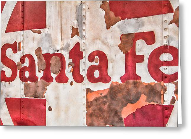 Santa Fe Vintage Railroad Sign Greeting Card