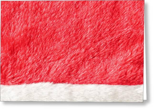 Santa Hat Greeting Card by Tom Gowanlock