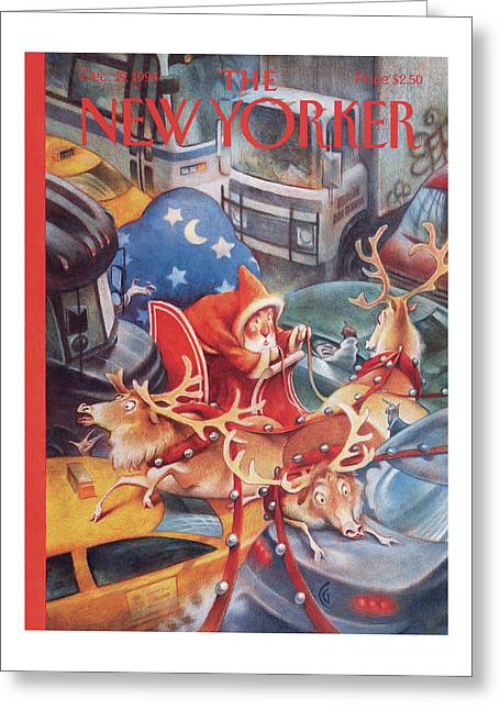 New Yorker December 19th, 1994 Greeting Card