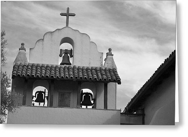Santa Ines Mission Bell Tower Greeting Card