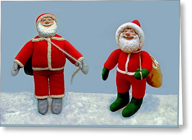 Santa Jr. And Sr. Greeting Card