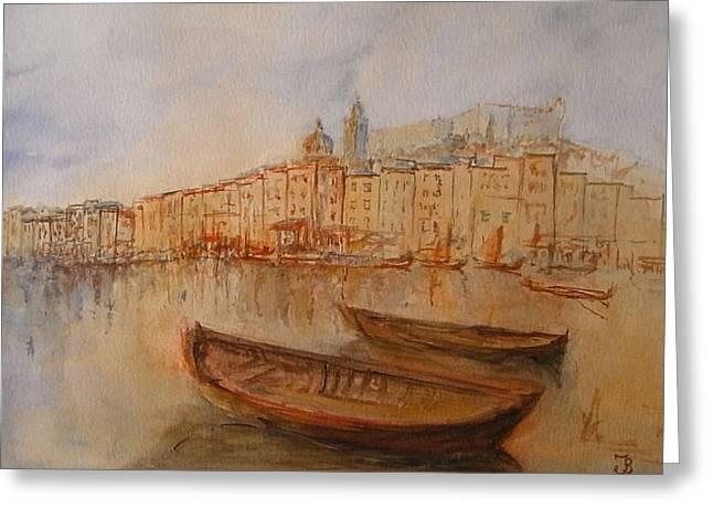 Santa Margherita Ligure Greeting Card by Juan  Bosco