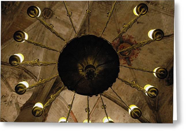 Santa Maria Del Mar Basilica IIi Greeting Card by Kathy Schumann