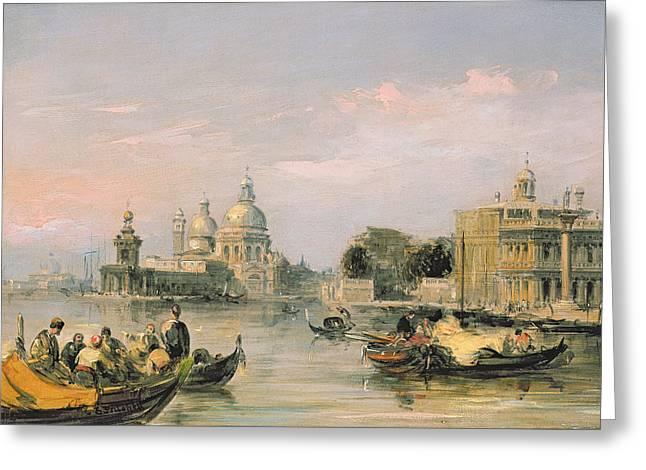 Santa Maria Della Salute, Venice, 19th Century  Greeting Card by Edward Pritchett
