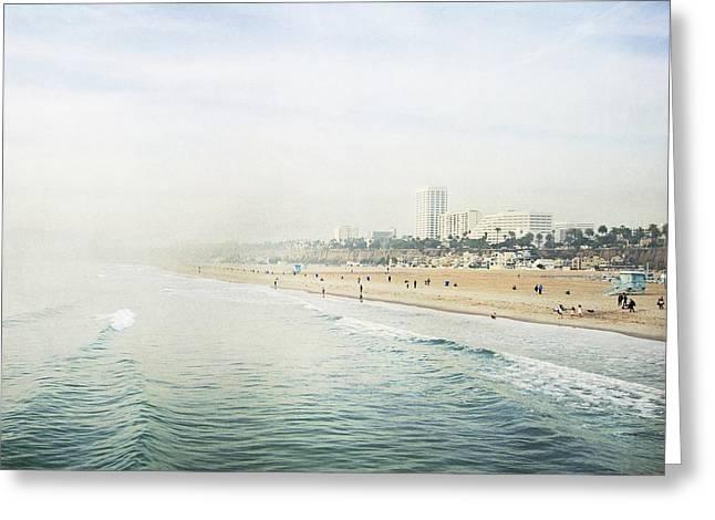 Santa Monica Beach  Greeting Card by Bree Madden