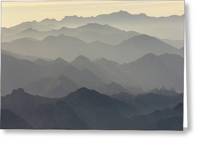 Santa Monica Mountains National Greeting Card by Rob Sheppard