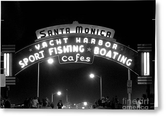 Santa Monica Pier 1 Greeting Card