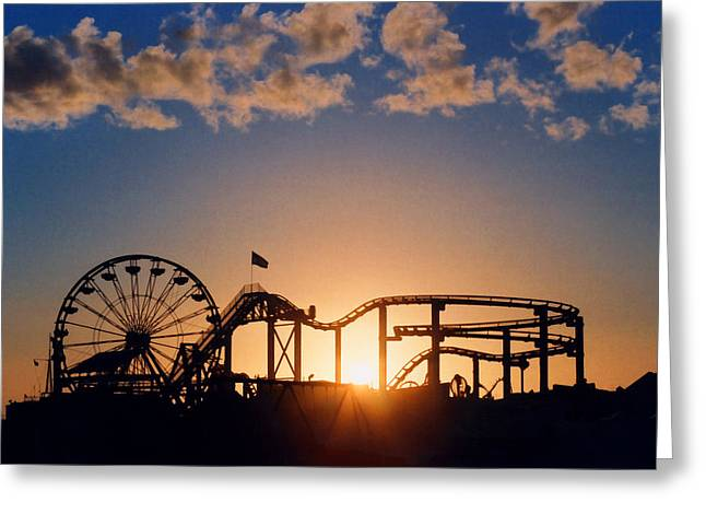 Santa Monica Pier Greeting Card by Art Block Collections