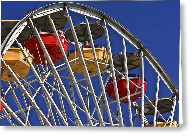 Santa Monica Pier Ferris Wheel Greeting Card