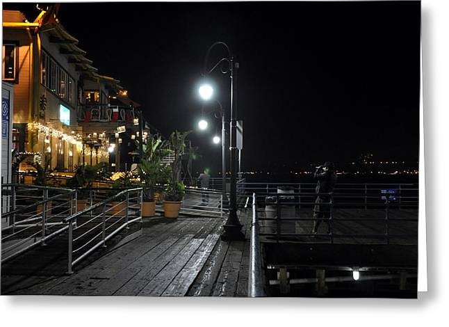 Santa Monica Pier Greeting Card by Gandz Photography