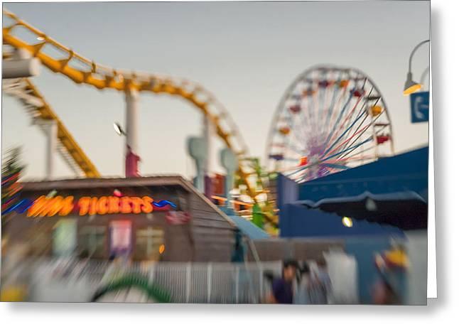Santa Monica Pier Ride Entrance Greeting Card