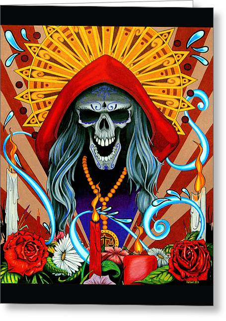 Santa Muerte Greeting Card by Steve Hartwell