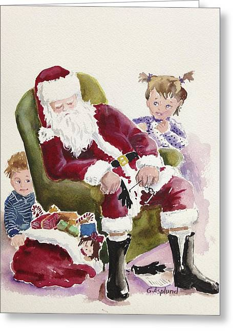 Waiting Up For Santa Greeting Card