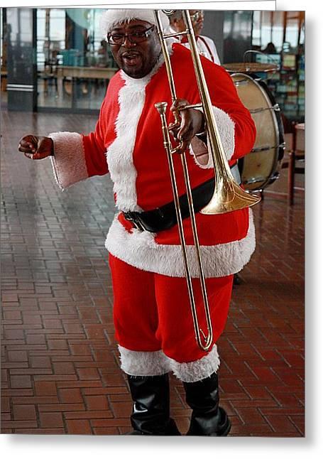 Santa New Orleans Style Greeting Card by Joe Kozlowski