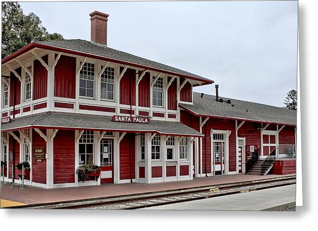 Santa Paula Station Greeting Card by Michael Gordon