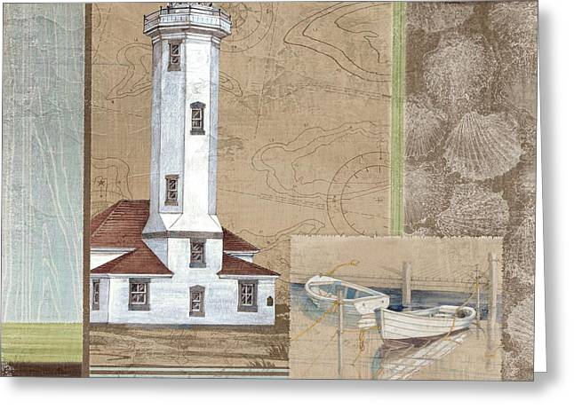 Santa Rosa Lighthouse II Greeting Card by Paul Brent