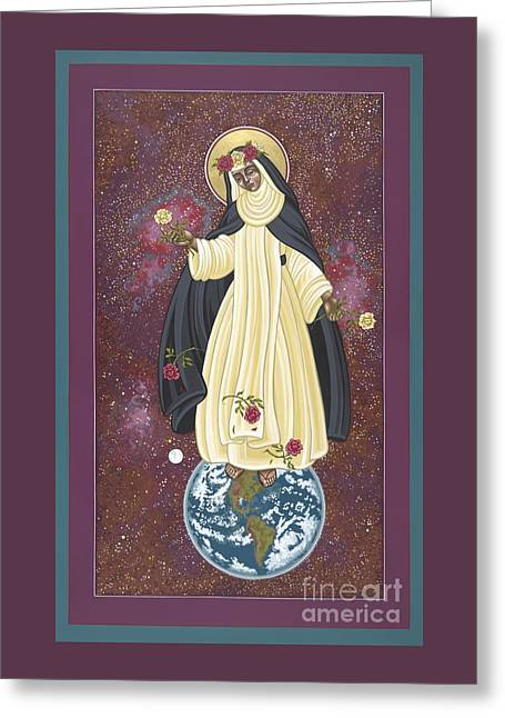 Santa Rosa Patroness Of The Americas 166 Greeting Card