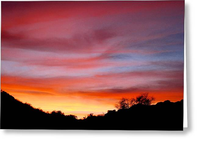 Santa Susana Sundown Greeting Card