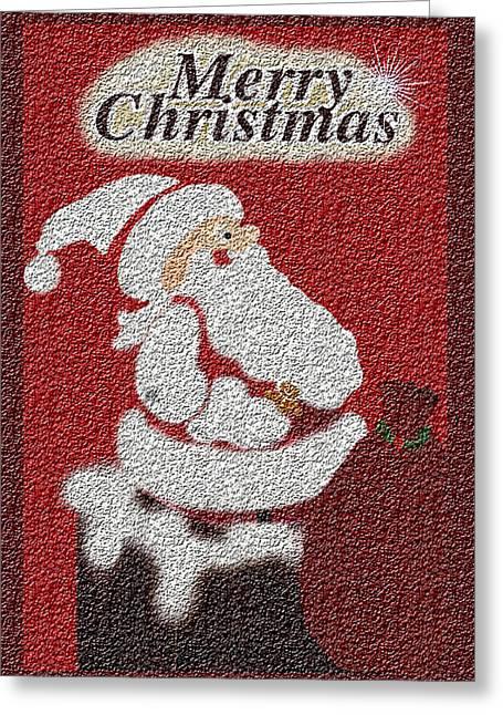 Santa Texture Card Greeting Card