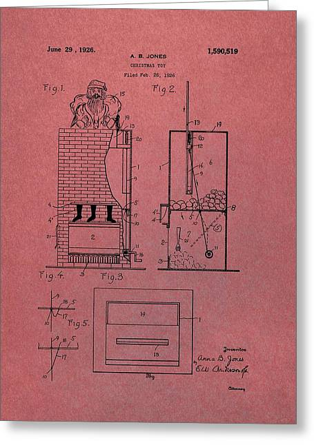 Santa Toy Patent Greeting Card by Dan Sproul