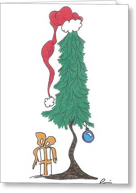 Santa Tree Greeting Card