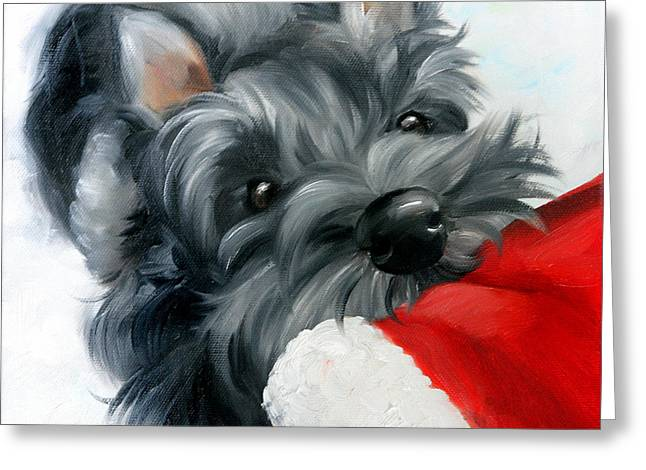 Santa Wait Greeting Card by Mary Sparrow