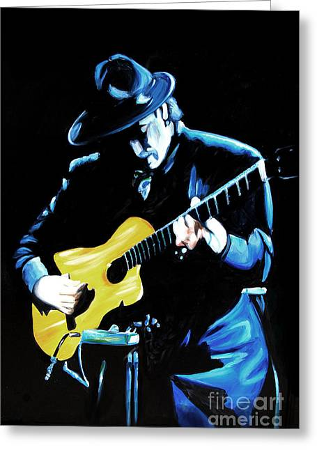 Santana Greeting Card by Nancy Bradley