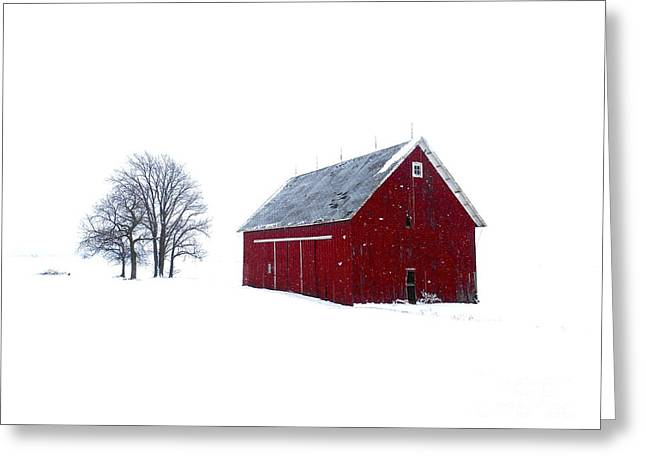 Santa's Barn Greeting Card