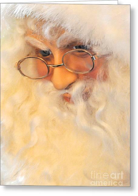 Santa's Beard Greeting Card by Vinnie Oakes