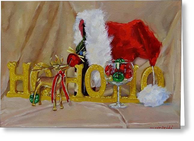Santas Cheer Two Greeting Card